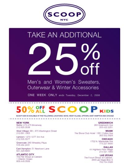 The official store of Scoop Nyc Coupon Codes offers the best prices on Site and more. This page contains a list of all Scoop Nyc Coupon Codes Store coupon codes that are available on Scoop Nyc Coupon Codes store. Save 80% Off on your Scoop Nyc Coupon Codes purchase with the Scoop Nyc Coupon Codes coupons.