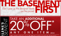 20% Coupon- Filene's Basement!