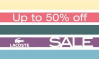 Lacoste 50% off Sale