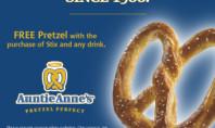 Free Auntie Anne's Pretzels!!