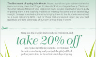 Trade In Old Bras for 20% Off at Journelle!