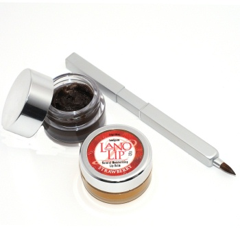 Strawberry Lip Balm - Chocolate Lip Scrub - Lip Brush Gift Set, $24.99 Value
