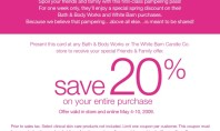 Bath & Body Works Friends & Fam Event