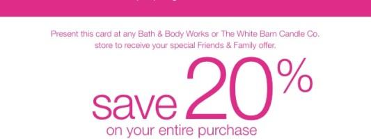Bath & Body Works Friends & Fam Event