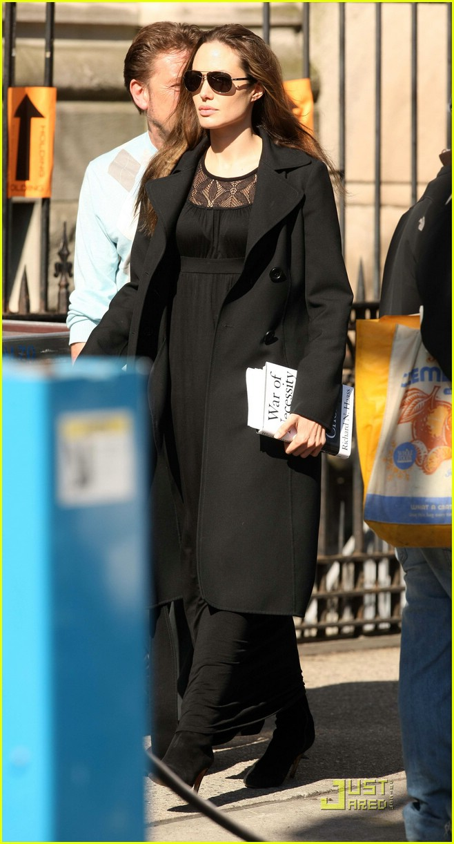 Angelina Jolie in Hollie Maxi Dress by Ella Moss