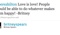 Britney Tweets 'Yes' To Gay Marriage