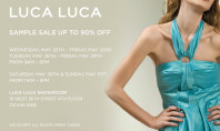 90% off at LUCA LUCA SAMPLE SALE!