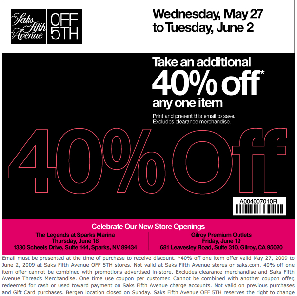 How to Use Saks Fifth Avenue Coupons: Enter the Saks Fifth Avenue promo code found on cursoformuladosmusculos.tk into the