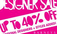 Barney's 40% Off Designer Sale