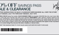 20% off Savings Pass for Lord & Taylor