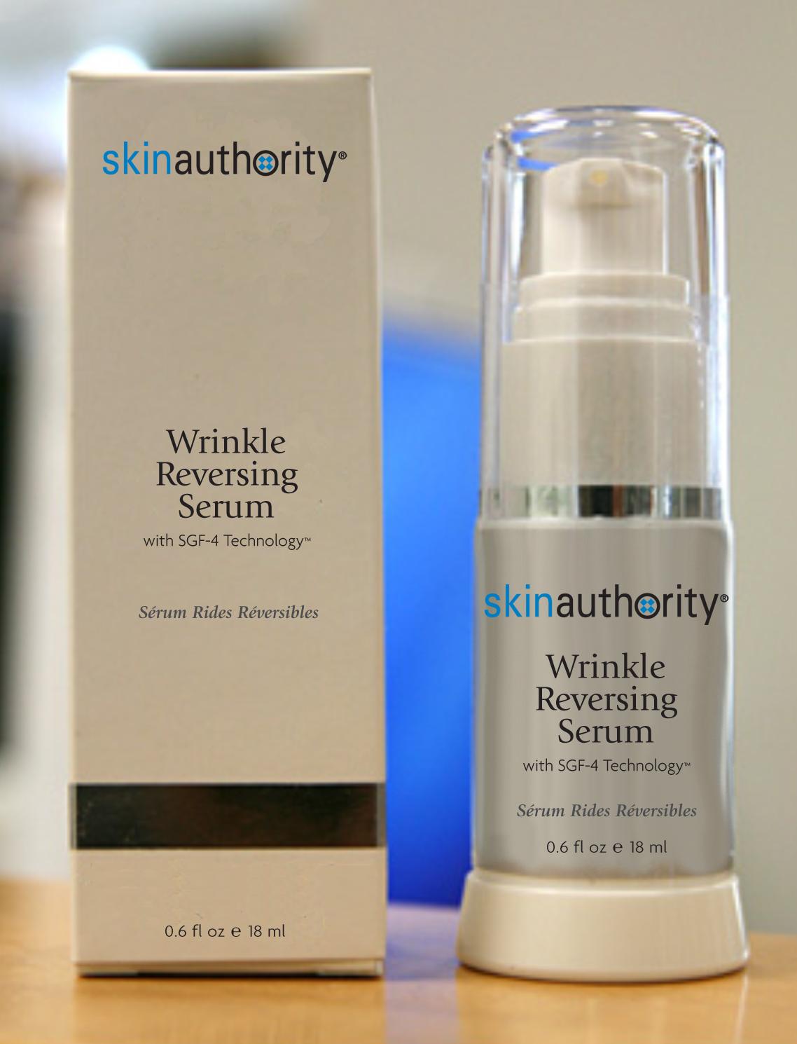 Wrinkle Reversing Serum with SGF-4 Technology, 0.6 oz / 18 ml   $125