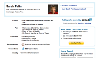Sarah Palin is on LinkedIn?