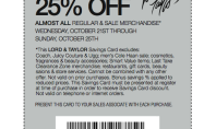 Lord & Taylor Friends and Family Pass