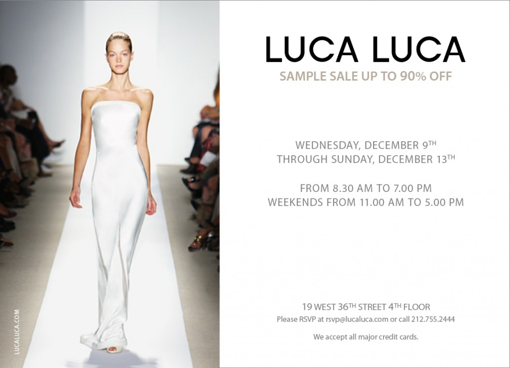 Luca Luca Sample Sale - Resort 09