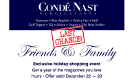 Mags are Obselete- But Happy Holidays, From Condé Nast!