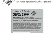 Lord & Taylor 25% off Printable Pass