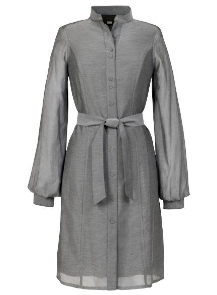 Poet Sleeve Shirt Dress