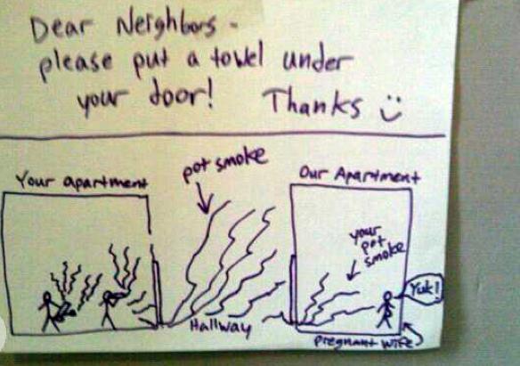Smoke Under Door : Your pot smoke is in my living room the luxury spot