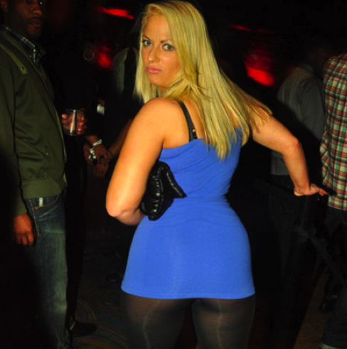 drunk nightclub girl