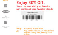 GAP 30% off Printable Coupon
