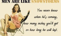 Quote Of The Day: Men Are Like Snowstorms…