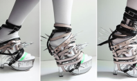 OMG: Crystal Spiked Strapped Shoes