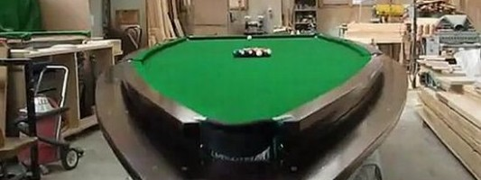 Speedboat Pool Table Helps Lure Men to Your House