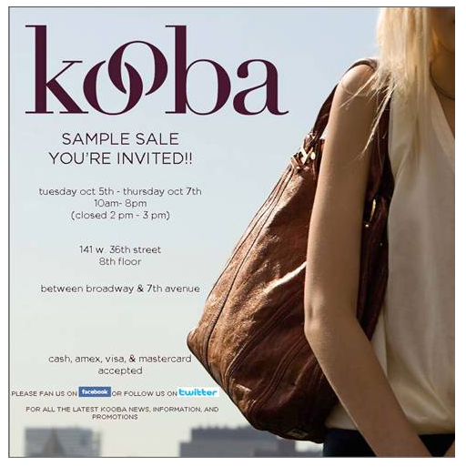 Kooba Sample Sale The Luxury Spot