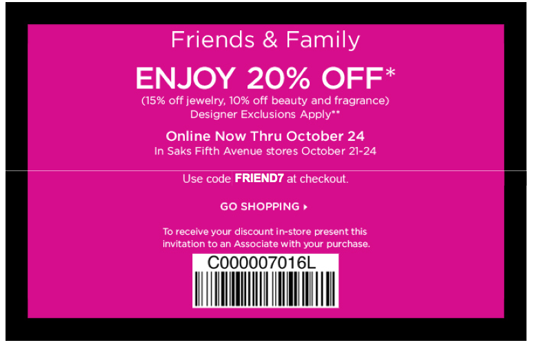 $50 Off When You Spend $250+ | Saks Fifth Avenue Promo Code