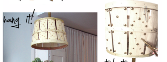 P.S.- I'd LOVE to Make This: The Bushel Chandelier