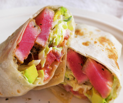 Tuna And Avocado Wraps Recipe — Dishmaps
