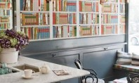 Fool Your Date: Bookshelf Printed Wallpaper