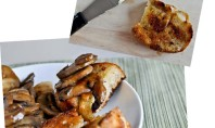 Yum Alert: Caramelized Chicken with Mushrooms & Grilled Bread