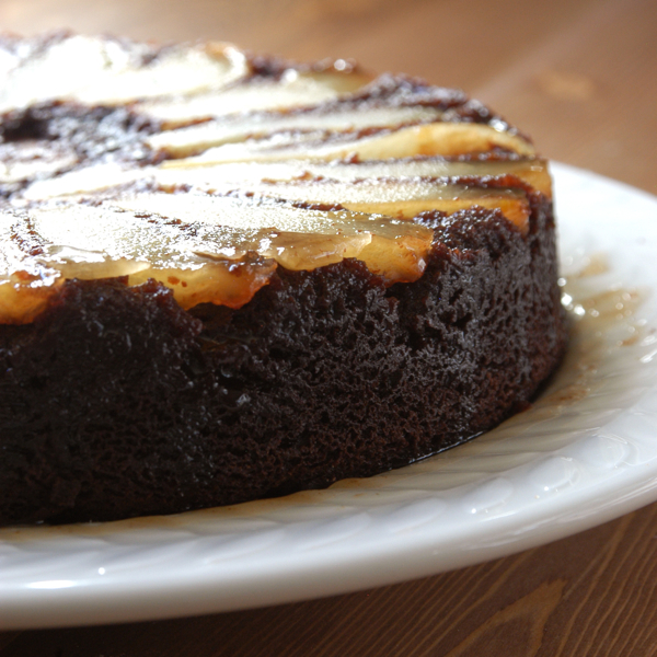 Yum Alert: Upside-Down Pear Chocolate Cake | The Luxury Spot