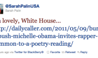 Sarah Palin Chastises White House via Twitter