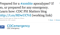 Centers for Disease Control & Prevention Wants You to Prepare for Jesus, Zombies, Etc.
