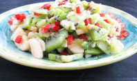 Yum Alert: Sweet and Spicy Banana Kiwi Salad