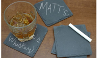 Customizable Chalk Coasters