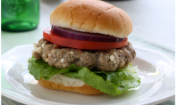 Yum Alert: Greek Style Turkey Burger with Feta