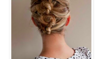 Beauty Spotting: The Easiest Updo, Ever