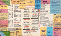 Vintage Spotting: Restaurant Menus from the '60's and Beyond