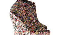 Shoe Spotting: Jeffrey Campbell Spills Paint on Wedges, Deems Masterpiece
