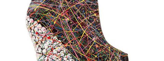 Shoe Spotting: Jeffrey Campbell Spills Paint on Wedges, Deems Masterpiece