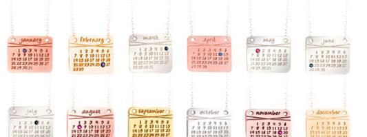 Accessory Spotting: dalla nonna's Calendar Necklace