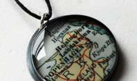 Etsy Spotting: Vintage Recycled Map Sterling Pendant