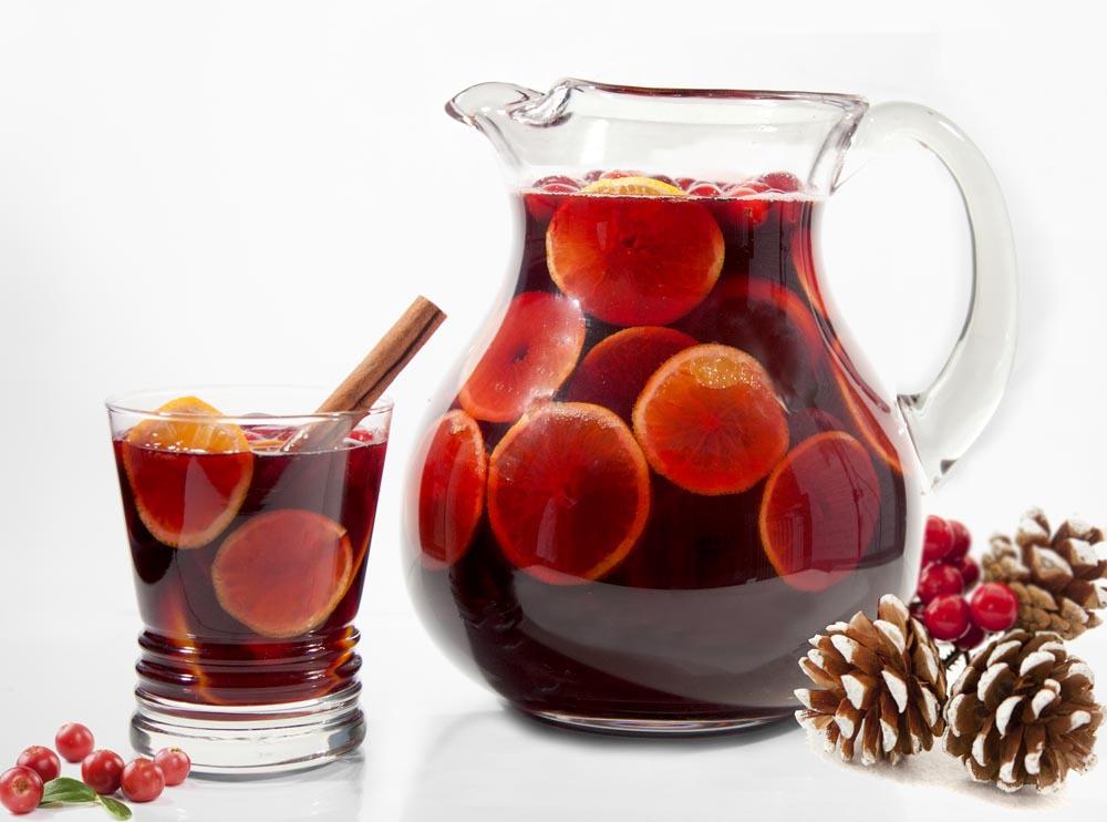 Spiced Cranberry Sangria Recipe — Dishmaps