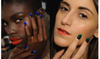 Beauty Spotting: CND's Two-Toned Nails Run Wild on the Catwalk