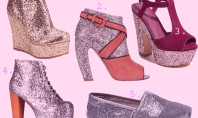 Shoe Spotting: All That Glitters Is Gold