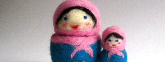 Etsy Spotting: Awesome, Felted Nesting Dolls