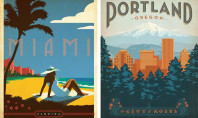 Travel Spotting: Vintage destination posters